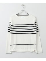 FORK&SPOON Striped Boatneck Sweater