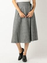柄ロング巻きスカート