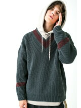 <monkey time> PE AZE BIG TILDEN KNIT/ニット