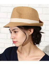 【SALE/50%OFF】ROPE' PICNIC PASSAGE バックリボン中折れハット ロペピクニック 帽子/ヘア小物 ハット ベージュ グレー