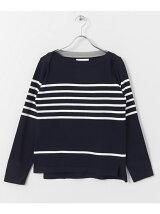 FORK&SPOON Striped Boatneck Sweater
