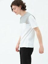 バイカラークルーネックTシャツ
