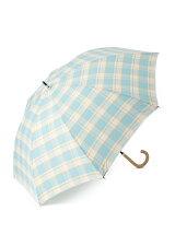 EN14 先染めチェック 長傘/日傘