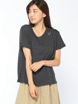 アメリカ綿スラブ刺繍Tシャツ