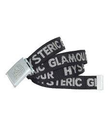 HYSTERIC GLAMOUR (M)LOGO テープベルト ヒステリックグラマー ファッショングッズ ベルト ブラック レッド【送料無料】
