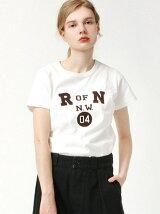 R OF N フロッキープリントTシャツ