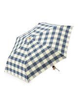 先染めチェック 折りたたみ傘/日傘