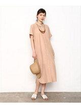 ドルマンシャツドレス
