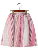 【キッズ】マルチストライプ スカート
