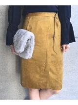 【WEB限定】マイクロスエードタイトスカート