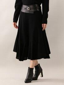 【SALE/51%OFF】EPOCA ウールボリュームスカート エポカ ザ ショップ スカート ロングスカート ブラック ピンク【送料無料】