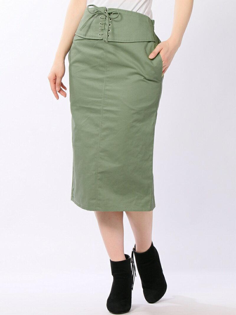 YEVS supply (W)綿ツイルタイトSK イーブス サプライ スカート【送料無料】