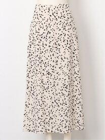 【SALE/45%OFF】SNIDEL バリエーションプリントサテンSK スナイデル スカート フレアスカート ホワイト イエロー ブラック【送料無料】