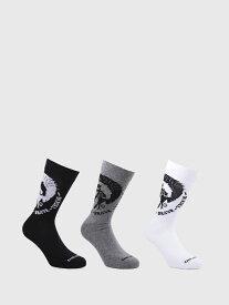 DIESEL SKM-RAY-THREEPACK ディーゼル ファッショングッズ ソックス/靴下 ブラック レッド