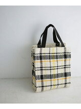 LP check pattern box totebag
