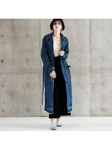 (W)FRIDA DENIM COAT MIDNIGHT STO