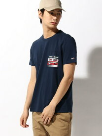 【SALE/40%OFF】TOMMY HILFIGER(トミーヒルフィガー) グラフィック ポケット Tシャツ ロゴ Tee カットソー 半袖 Tシャツ メンズ トミーヒルフィガー カットソー【RBA_S】【RBA_E】