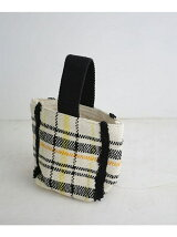 別注LP×NU  check busket bag