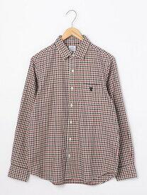【SALE/55%OFF】coen シェパードチェックレギュラーカラーシャツ コーエン シャツ/ブラウス 長袖シャツ レッド ブラウン グリーン