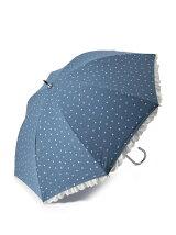 ダンガリー星柄 長傘/日傘
