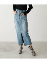 HIGH WAIST SLIT DENIM SK 2