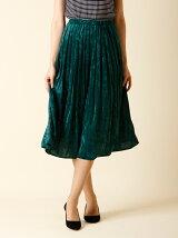 【WEB限定大きいサイズ】クラッシュベロアプリーツスカート