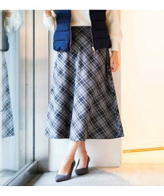 【SALE/58%OFF】a.v.v ワントーンチェックフレアスカート[WEB限定サイズ] アー・ヴェ・ヴェ スカート スカートその他 グレー パープル