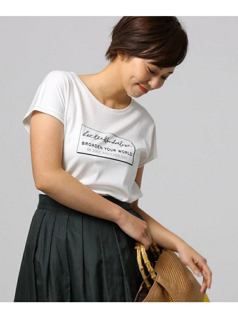 UNTITLED ポワールスムース ロゴTシャツ アンタイトル カットソー【送料無料】