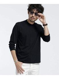 【SALE/10%OFF】nano・universe ジャケTロングスリーブ ナノユニバース カットソー Tシャツ ブラック ブラウン グリーン グレー ホワイト
