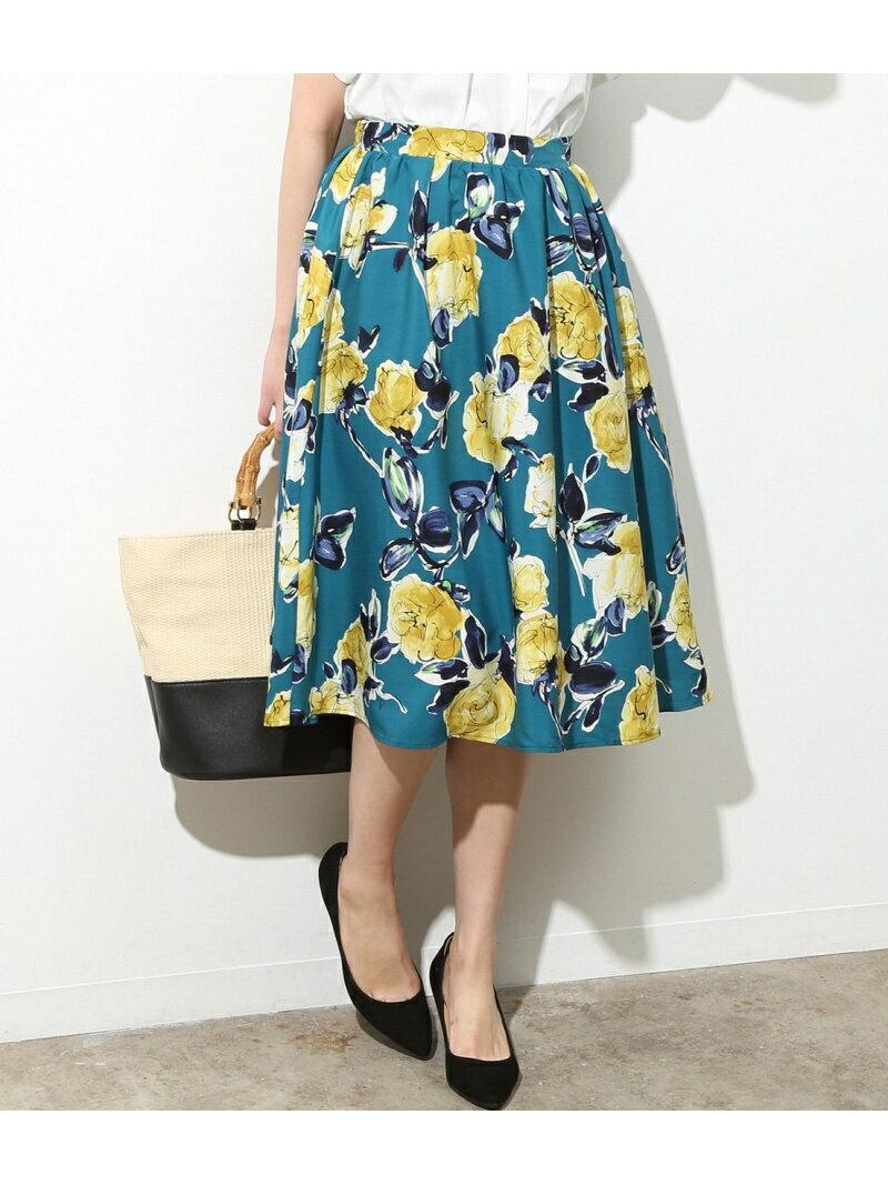 【SALE/30%OFF】ViS アートプリントギャザースカート ビス スカート【RBA_S】【RBA_E】