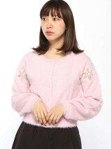 MARBLE WALTZ/ショート丈ミニフェザーフラワー刺繍カ