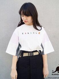【SALE/60%OFF】179/WG KANGOLコラボブロッキングTシャツ イチナナキューダブリュジー カットソー Tシャツ ホワイト グレー グリーン
