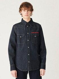 【SALE/50%OFF】Calvin Klein Jeans 【カルバン クライン ジーンズ】 メンズ デニム ウェスタン シャツ カルバン・クライン シャツ/ブラウス 長袖シャツ ネイビー【送料無料】