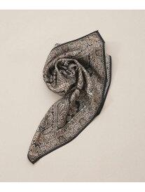 Le Vernis ペイズリースカーフ ナノユニバース ファッショングッズ マフラー/スヌード ブラック ブラウン グレー【送料無料】