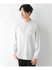 GLOBAL WORK (M)スマラク バンドカラーシャツ グローバルワーク シャツ/ブラウス 長袖シャツ ホワイト ネイビー【送料無料】