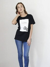 【SALE/40%OFF】nina mew ハローキティプリントTシャツ ニーナミュウ カットソー Tシャツ ブラック ピンク レッド ホワイト【送料無料】