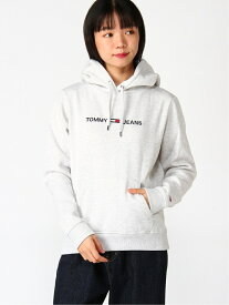 【SALE/40%OFF】TOMMY JEANS TOMMY HILFIGER(トミーヒルフィガー) ロゴ パーカー フーディー プリント フード スウェット トミーヒルフィガー カットソー パーカー グレー ブラック ホワイト【送料無料】