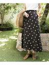 URBAN RESEARCH 【WEB限定】ドットプリントフレアスカート アーバンリサーチ スカート スカートその他 ブラック【送料…
