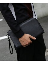 【WEB限定】レザー調ミニクラッチバッグ