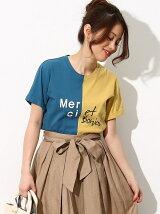 カラーブロッキングTシャツ