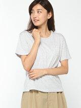 ポケット付ロゴptTシャツ