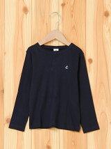 (K)裏起毛ロゴ入り長袖Tシャツ