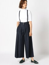 To b. by agnes b. /(W)WG78 PANTALON デニムバギーパンツ