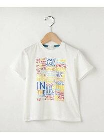 【SALE/49%OFF】3can4on 【100-140cm】カラフル英字ロゴTシャツ サンカンシオン カットソー Tシャツ ホワイト イエロー ブルー