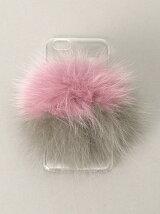 バイカラーFURチャーム iPhone6/6s 6PLUSケース