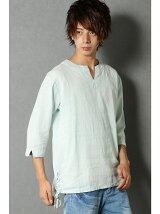 メンアサレースアップシャツT