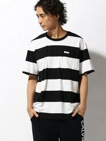 【SALE/50%OFF】Calvin Klein Jeans 【カルバン クライン ジーンズ】 メンズ ポケット Tシャツ AR カルバン・クライン カットソー Tシャツ ブラック レッド【送料無料】