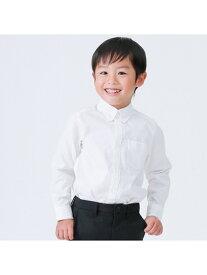 COMME CA ISM イージーケア ボタンダウン 長袖シャツ (110cmー130cm) コムサイズム シャツ/ブラウス ワイシャツ ホワイト【送料無料】