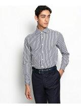 THOMAS MASON ロンドンストライプ ラウンドカラードレスシャツ