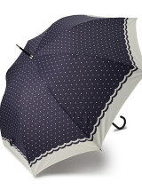 EJ68 シンプルドット柄長傘(雨傘)